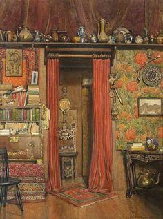 stilllifequickheart:  Frank Convers Mathewson Studio Interior 1914