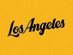 Los Angeles lettering by Nathan Yoder