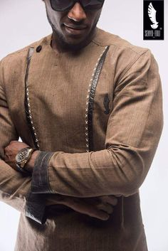 Senyo Foli is a long standing brand with it's prime focus on quality and style. Although it has been around for a fair amount of time, Senyo Foli made a major African Wear Styles For Men, African Dresses Men, African Attire For Men, African Clothing For Men, African Shirts, African Clothes, African Style, African Women, Nigerian Men Fashion