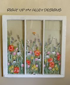 Old Painted windowSOLD but you can CUSTOM ORDER your