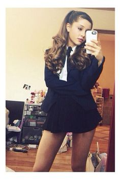 Ariana Grande Instagram - How To Take Good Instagram Pictures - Seventeen - I'd like it with a longer skirt