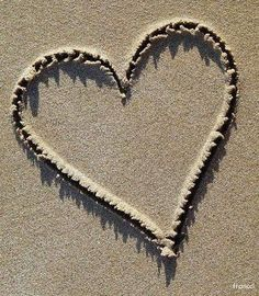 beach, heart, and love image Heart In Nature, Heart Art, Heart Images, Love Images, I Love Heart, Your Heart, Happy Heart, Sand Writing, Heart Wallpaper