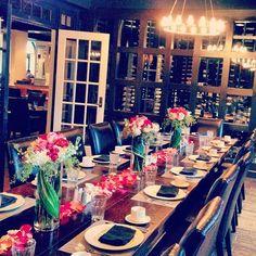 Enoteca set for a Bridal Luncheon I Auburn, AL