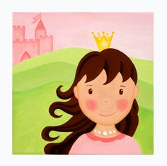 "Kinderzimmerbild ""Prinzessin Mia"" personalisiert von liloumini auf DaWanda.com"