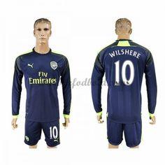 Billige Fodboldtrøjer Arsenal 2016-17 Wilshere 10 Langærmet Tredjetrøje