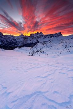 Mountain Sunset...Wow it looks like the sky is on fire!