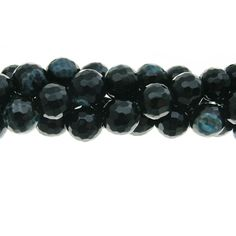 Faceted Agate 8mm Gemstone Bead Strand, Palace Green