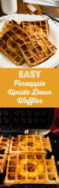 Easy Pineapple Upside Down Waffles