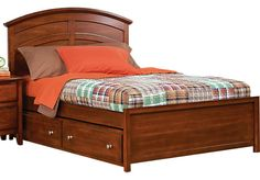 Shop for a Santa Cruz Cherry 3 Pc Twin Panel Bed at Rooms To Go Kids. Find  that will look great in your home and complement the rest of your furniture.