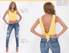 Esta prenda te da un toque sexy y cautivador, el amarillo es un tono que hará que resalte tu bronceado. También la puedes encontrar en blanco.  El precio de esta blusa lo puedes encontrar en nuestra página. http://bonabella.com.co/producto/blusa-20870-2/