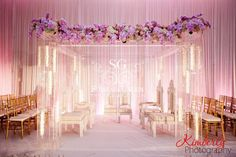 event decor, Cherry Blossom Event design, Florida wedding decorator, Indian wedding decorator, modern mandap, Suhaag Garden, Tampa Marriott Waterside Hotel & Marina