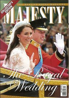 Majesty Magazine, Kate Middleton, Prince William, Royal Wedding, 2011~NEW