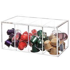 Deluxe Clear Acrylic 4 Compartment Hinge Lid Nespresso Capsule Holder / Tea Bag Organizer Storage Box MyGift http://www.amazon.com/dp/B00WATKSLA/ref=cm_sw_r_pi_dp_Yq.nwb0TQ0H7W