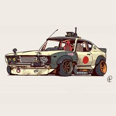 Car Art, Art Cars, Auto Illustration, Cool Car Drawings, Jdm Wallpaper, Street Racing Cars, Weapon Concept Art, Cyberpunk Art, Futuristic Cars