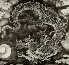 ideas tattoo dragon tiger japanese art for 2019 Japanese Dragon, Chinese Dragon, Chinese Art, Dragon Tattoo Art, Dragon Artwork, Japanese Drawings, Japanese Prints, Dragon Images, Cloud Art