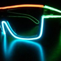 Multicolored Glowing Sunglasses- I wear my sunglasses at night!