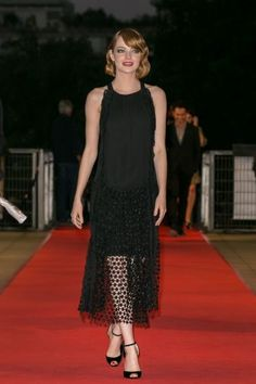 Emma Stone en Chloé, París.