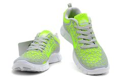 New Womens NIKE 5.0 Free Run Shoes Grey Fluorescent Green [Nike Free Run 266] - $79.66 :