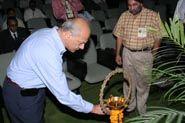 Pradeep Sardana, Pepsico Ltd at PackAge 2006, lighting the inaugural lamp.