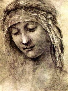 Head of a Woman by Leonardo de Vinci http://www.italian-renaissance-art.com/Da-Vinci-Drawings.html