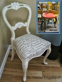 Huckleberry Love: Friday Features {No. 34}- Balloon Back Chair Makeover via The…