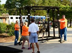 Tori and Justin McLeod and their NC peeps with the animal rescue equipment in NC