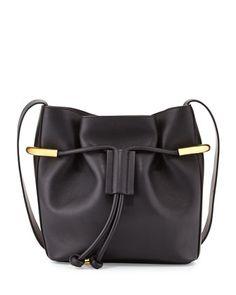 Emma+Small+Drawstring+Shoulder+Bag,+Black+by+Chloe+at+Neiman+Marcus.