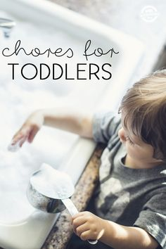 Here are the best chores for toddlers to get them started helping out around the house.