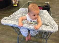 Stretchy Multi-use Car Seat Canopy + Nursing Cover + Shopping Cart Cover in Soft Arrow Print