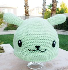 England Flying Mint Bunny Inspired Hat With Wings: Hetalia Axis Powers Japanese Anime Kawaii Handmade Crochet Beanie Hat. $32.00, via Etsy.