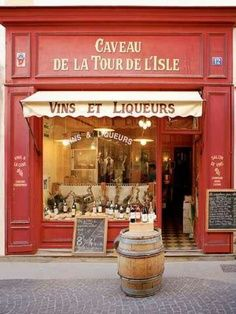 European photo of wine store in LIsle Sur la Sorgue in Provence France by Dennis Barloga Photos of Europe Fine Art Photographs by Dennis Barloga Provence France, Paris France, France Europe, France Travel, Shop Facade, Lokal, Liquor Store, Shop Fronts, Shop Around