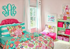 carolina on my mind: Turquoise and Pink Big Girl Bedroom: Reveal!