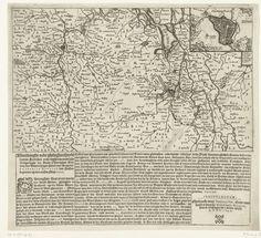 Anonymous   Kaart van Noord-Brabant met het beleg van Den Bosch, 1629, Anonymous, Francoys Hus, Willem Jansz. Wijngaert, 1629   Kaart van een groot deel van Noord-Brabant van Antwerpen tot Nijmegen met het beleg van Den Bosch door het Staatse leger onder Frederik Hendrik, van 1 mei tot 17 september 1629. Rechtsboven een inzet met een plattegrond van de stad. Gedrukt onder de plaat 4 kolommen tekst in het Nederlands.