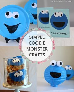 Cookie Monster inspired DIY party decor idea