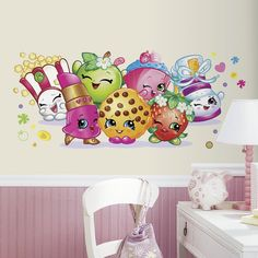 RoomMates RMK3155GM Shopkins Pals Peel and Stick Giant Wall Graphic http://amzn.to/2a1y3Vj