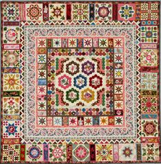 """ Turkish Tiles"" is inspired by 2 antique quilts, Anna Brereton, early 1800's…"