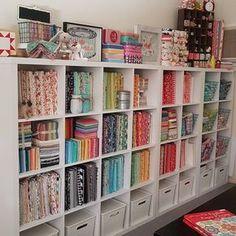 Great fabric storage!