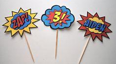 Super Cupcake Toppers con nombre y edad