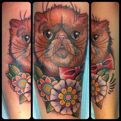 Guen Douglas Persian cat tattoo