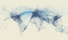 Flight routes by Kevin Reinhardt #map #travel #world