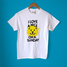 I Love a Nice Lion on a Sunday Screenprint Men's T-shirt by hello DODO, £18.00