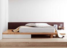 Square modern bed with storage drawer by Go Modern #interiordesign