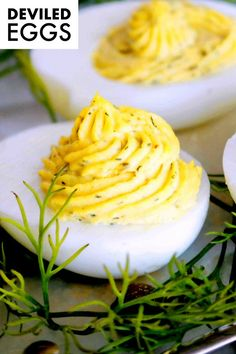Southern Deviled Eggs are a crowd-favorite and the perfect finger food at summer picnics, cocktail parties, BBQ's, holiday gatherings, brunches, and more! Featuring how to take Deviled Eggs from good to great with just a few simple ingredients like capers, tarragon vinegar, Dijon mustard, and dill!