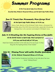 Libraries around the lakes area have teamed up to bring you several amazing programs this summer!