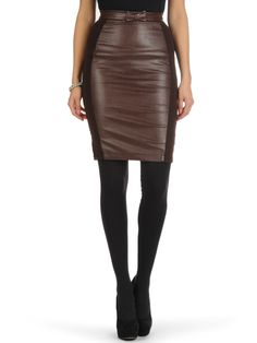 2428332e9a0402 Yumi Skirt £37 absolutely gorgeous and perfect for nailing the faux leather  look trend!