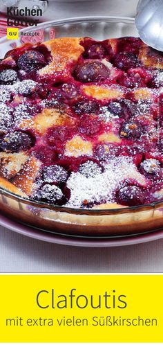 Clafoutis mit extra vielen Süßkirschen Here's a great recipe for with extra many # sweet cherries, German Cakes Recipes, Cake Recipes, Chocolate Crepes, Chocolate Desserts, Best Pancake Recipe, Sweet Cherries, Desert Recipes, Food Cakes, No Bake Cake