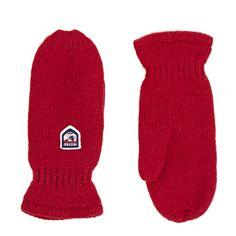 Women's Hestra Mittens - Hestra Basic Wool Mittens - Red