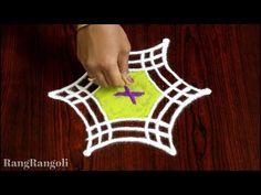 Easy Pongal Kolams with 3 dots Rangoli Designs Flower, Small Rangoli Design, Rangoli Kolam Designs, Beautiful Rangoli Designs, Flower Designs, Simple Rangoli Kolam, Rangoli With Dots, Simple Flower Design, Simple Flowers