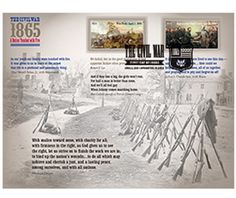 Amazon.com: The Civil War: 1865 Souvenir Sheet of 12 USPS Forever Stamps: Toys & Games The Civil War (1861-1865), the most wrenching chapter in American history, claimed the lives of more than 620,000 soldiers and brought vast changes to the country. The Postal ServiceTM concludes its commemoration of the 150th anniversary of the war by issuing a souvenir sheet with two new stamp designs for 2015.