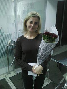 Фото получателя :) #roselife #сюрприз #доставкацветов #подарок #sendflowers